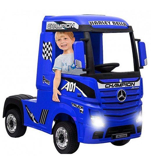 12V Mercedes ACTROS Blue Babycar - vozilo na akumulator z daljincem