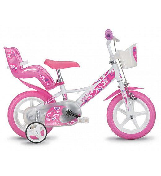 "Otroško kolo 12"" Dino Bikes LITTLE HEART"