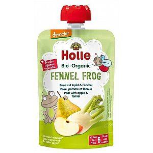 Pouchy koromač žaba, hruška z jabolko& koromač bio, Holle