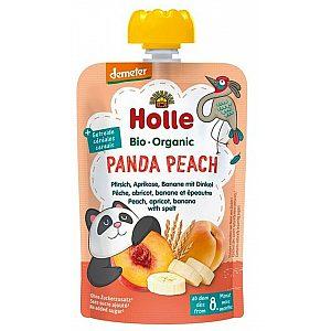 Pouchy panda breskev, marelica 6 banana s piro, bio, Holle