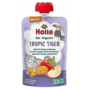 Pouchy tropski TIGER, jabolko & mango z marakujo bio, Holle