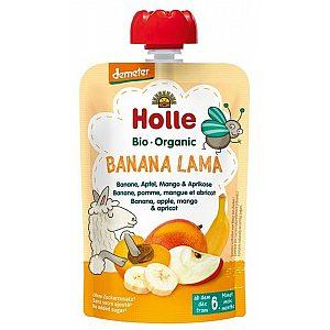 Sadni pire banana LAMA, jabolko, mango in marelica 100g (Demeter), Holle