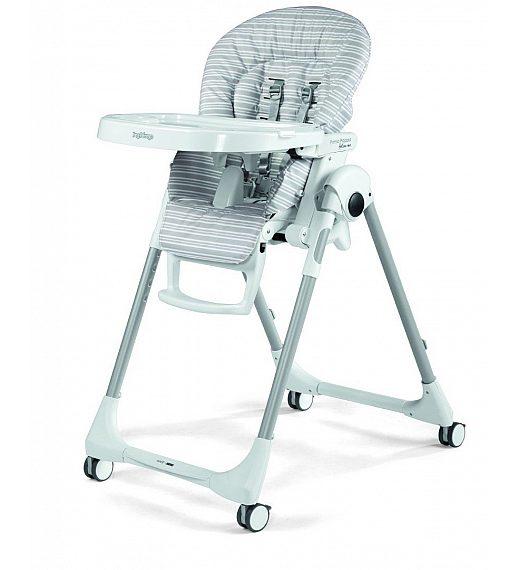 Peg Perego PRIMA PAPPA Follow me Linear Grey - stolček za hranjenje