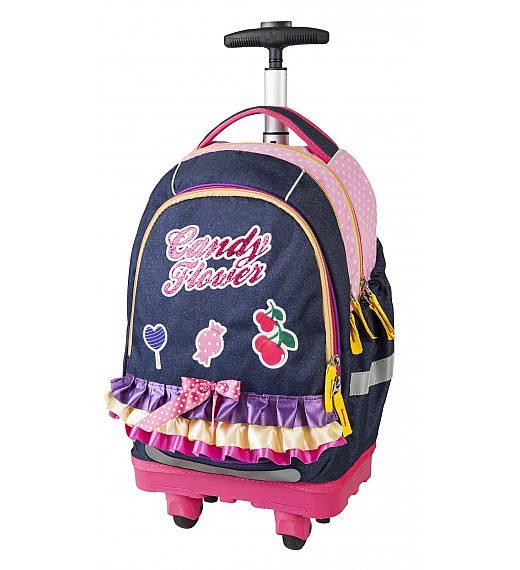 Target SMART Trolley Candy Flower 17917 - šolska torba na kolesih