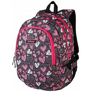 Target 3ZIP Love You 26293 - šolski nahrbtnik, šolska torba