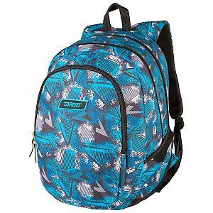 Target 3ZIP Abstract Blue 26298 - šolski nahrbtnik, šolska torba