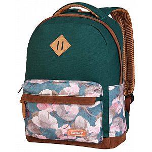 Target CANVAS Floral Green 26777 - Šolski nahrbtnik, šolska torba