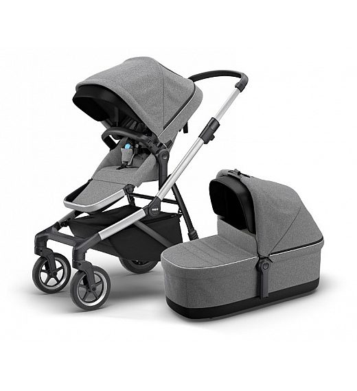 Thule SLEEK Grey Melange - otroški voziček s košaro