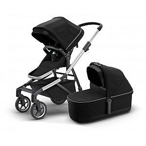 Thule SLEEK Midnight Black - otroški voziček s košaro