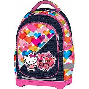 Nahrbtnik super light za šolo Hello Kitty Heart jeans blue/multicolor