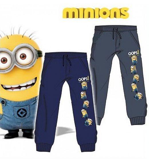 Fantovske jogging hlače  MINIONS v modri barvi - 3 leta