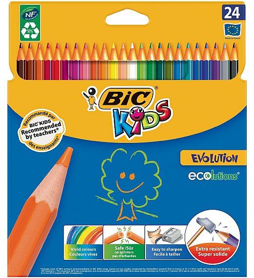 Bic Kids EVOLUTION - 24 kosov nelomljivih barvic