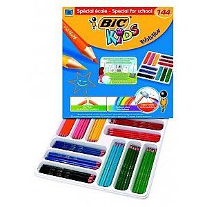Bic Kids EVOLUTION - 144 kosov nelomljivih barvic