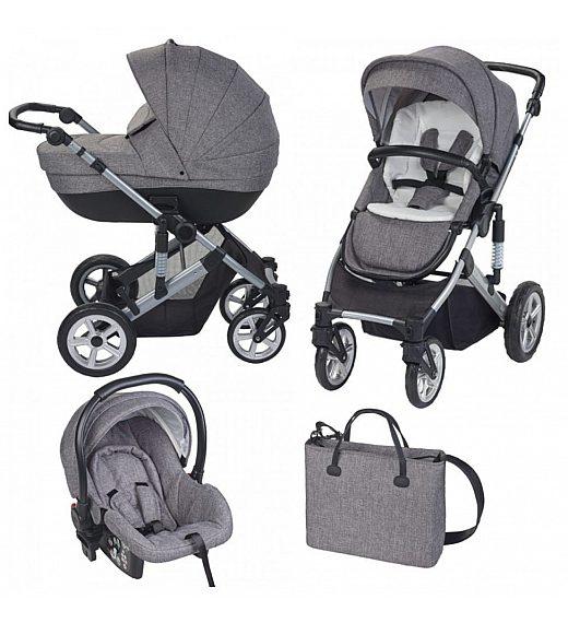 Voziček Plebani trio VIVO Grey