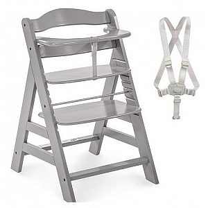 Lesen stolček za hranjenje  ALPHA PLUS Grey