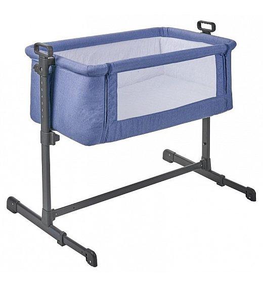 Obposteljna posteljica Plebani STELLINA Blue