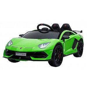 12V LAMBORGHINI AVENTADOR Lamas Toys - avto na akumulator z daljincem zelen