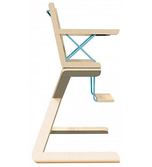 Albero bambino KANGAROO Celeste - stolček za hranjenje