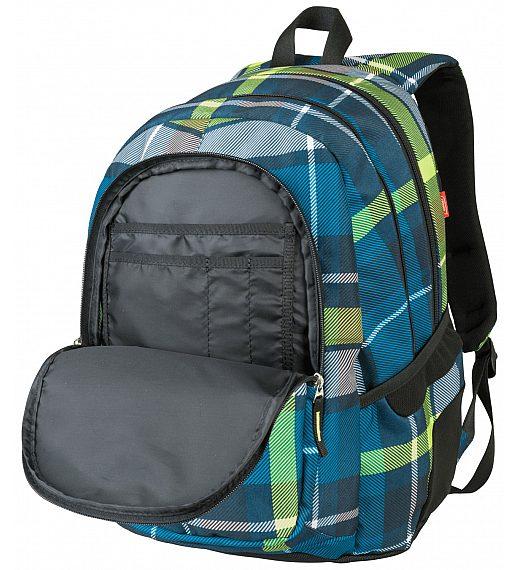 Target 3ZIP Check Green 21880 - šolski nahrbtnik, šolska torba