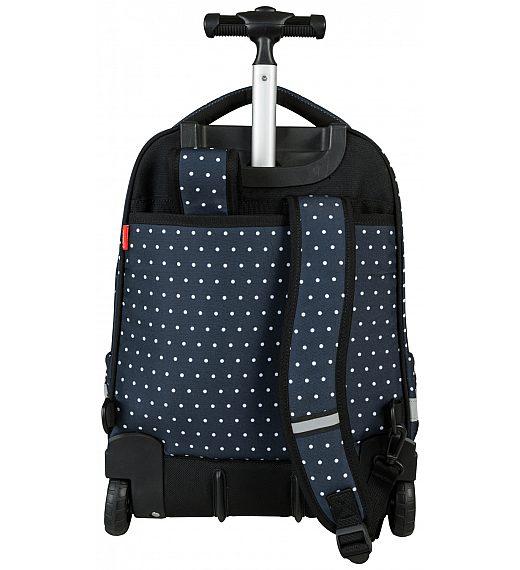 Trolley Dots Black 21949 - šolska torba na kolesih