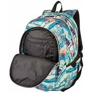 Target 3ZIP Rust Blue 26296 - šolski nahrbtnik, šolska torba