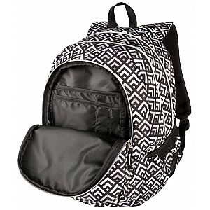 Target 3ZIP Grey Pyramids 26297 - šolski nahrbtnik, šolska torba