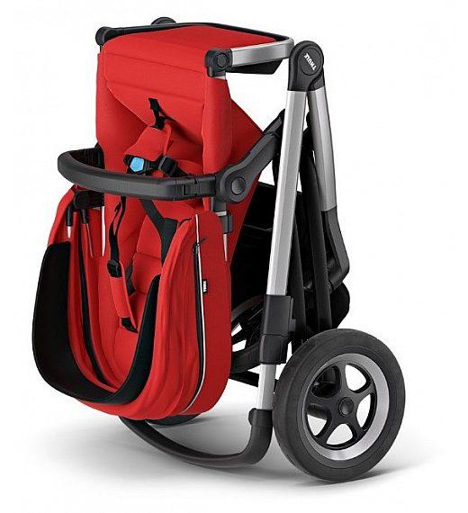 Thule SLEEK Energy Red - otroški voziček s košaro