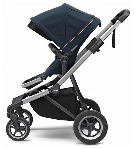 Thule SLEEK Midnight Blue - otroški voziček s košaro