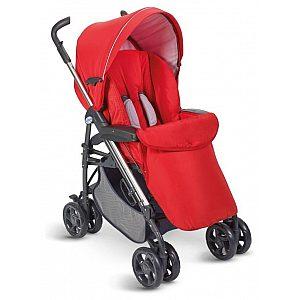 Otroški voziček Plebani D1 TRIO rdeče barve