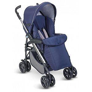 Otroški voziček Plebani D1 TRIO modre barve