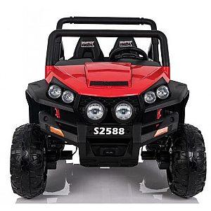 24V POLAR JEEP Babycar - baterijski avto z daljincem rdeč