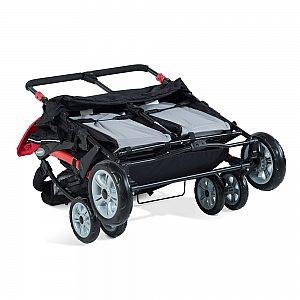 Foundations SPORT SPLASH QUAD rdeč - voziček za več otrok