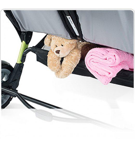 Foundations SPORT SPLASH QUAD oranžen - voziček za več otrok