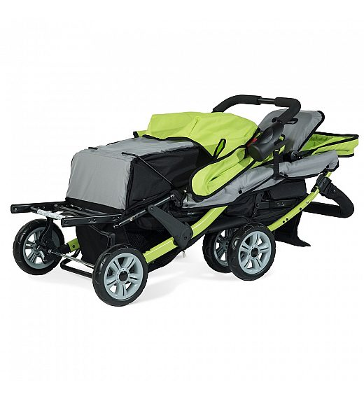 Foundations SPORT SPLASH TRIO lime - voziček za trojčke