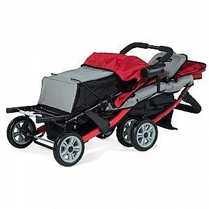 Foundations SPORT SPLASH TRIO rdeč - voziček za trojčke