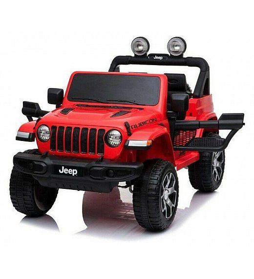 12V Jeep WRANGLER RUBICON Babycar rdeč- otroški električni avto