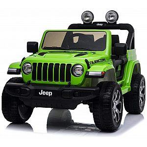 12V Jeep WRANGLER RUBICON zelen- otroški električni avto
