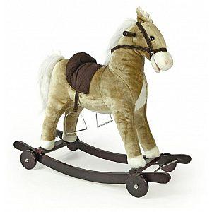 Gugalnik konj Decar2 beige na kolesih