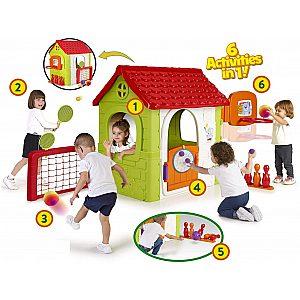 Igralna hiša Feber MULTI-ACTIVITY HOUSE 6v1