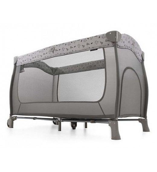 Hauck PLAY'N RELAX Center Melange Charcoal - prenosna posteljica