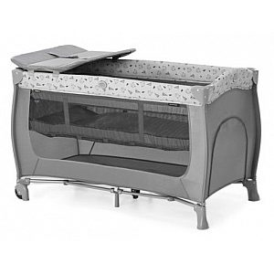 SLEEP'N PLAY Center 3 Nordic Grey - prenosna posteljica