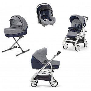 Inglesina Quattro TRILOGY Antigua Blue - otroški voziček