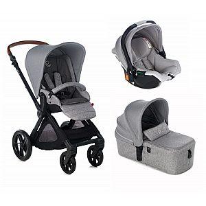 MUUM 3 v 1 KOOS iSize MICRO Dim Grey - modularni otroški voziček