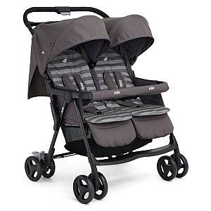 AIRE TWIN Dark Pewter - otroški voziček za dvojčke