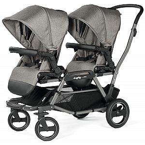 Duette Piroet City Grey modular Peg Perego - voziček za dvojčke