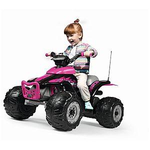 Električni štirikolesnik Peg Perego CORRAL T-REX 330W Pink