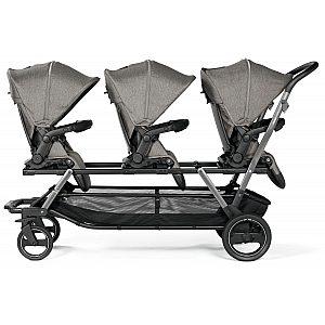 Triplette Piruet CIty Grey Peg Perego - voziček za trojčke