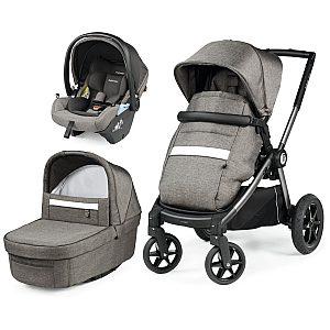 GT4 modular Lounge City Grey - trio otroški voziček