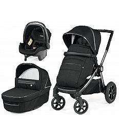 GT4 modular SL Black Shine Peg Perego - trio otroški voziček
