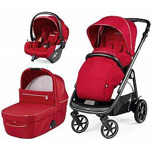 Veloce modular Lounge Red Shine - trio otroški voziček